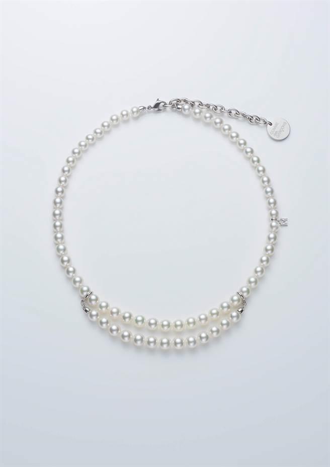 MIKIMOTO COMME des GARCONS聯名系列珍珠串鍊(珍珠鍊版),26萬1000元。(MIKIMOTO提供)