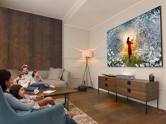 BenQ V6000 4K雷射電視。圖/BenQ提供