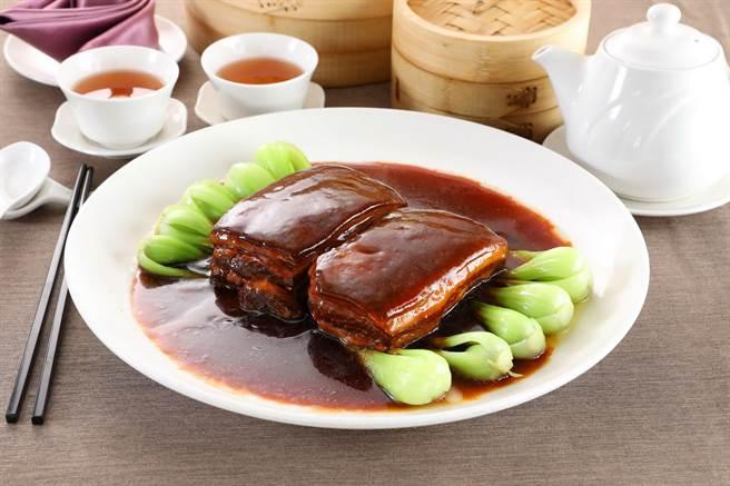 台北天成大飯店「寧式東坡肉」。(天成飯店集團提供)