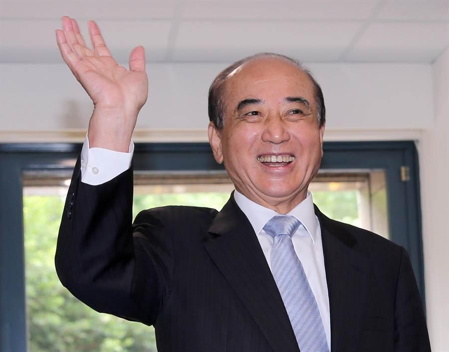 前立法院長王金平確定代表國民黨率團赴廈門出席海峽論壇。(黃世麒攝)