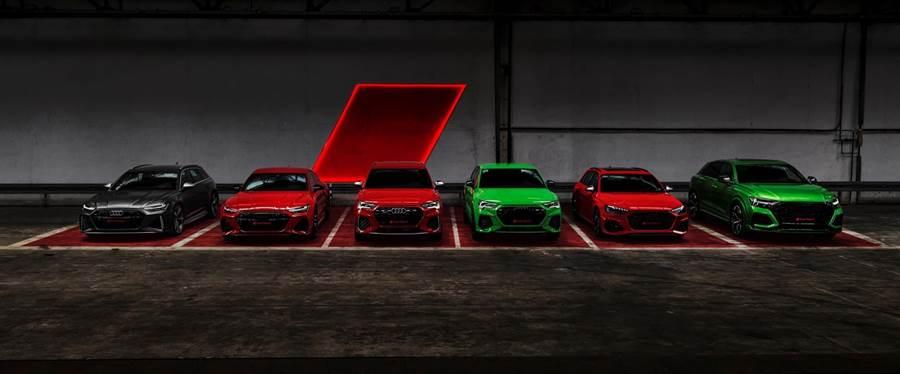 除RS 4 Avant之外,包含RS 5 Sportback、RS 6 Avant、RS 7 Sportback、RS Q8等一共五款RS性能家族車型,都將在年底前登台販售。