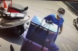 皮夾近5萬元放機車置物箱 竊賊僅花3秒偷走