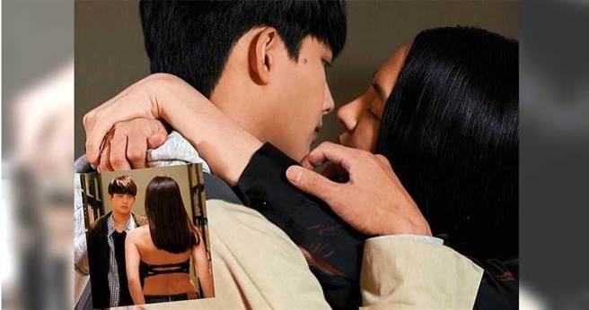 魏蔓跟張庭瑚合作《愛情白皮書》,第一場戲她要脫衣勾引對方。(圖/東森提供)