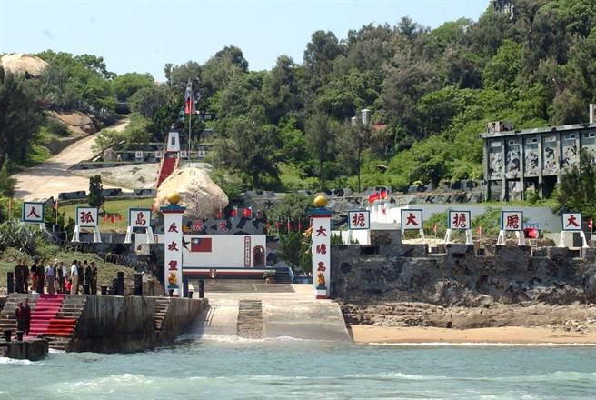 大膽島開放觀光後,快速躍升為金門熱門景點之一。(李金生攝)