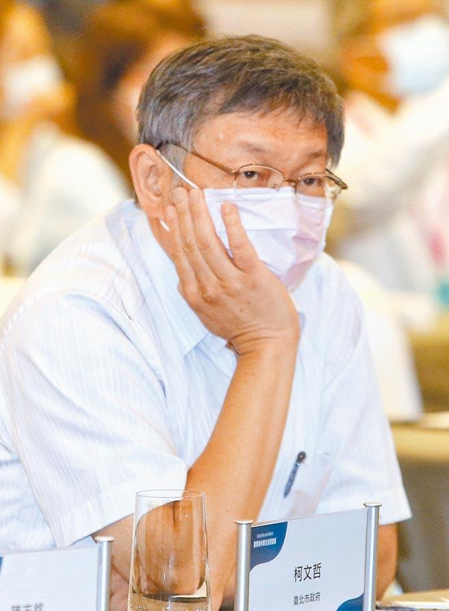 縣市首長滿意度民調,台北市長柯文哲最後一名。(王英豪攝)