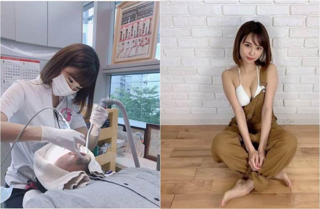 西原愛夏吊帶褲的帶子沒扣好,傲人上圍全都露。(圖/取材自西原愛夏Instagram)
