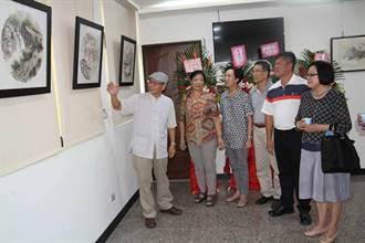 老公務員的1支筆  金門展出楊誠國山水畫