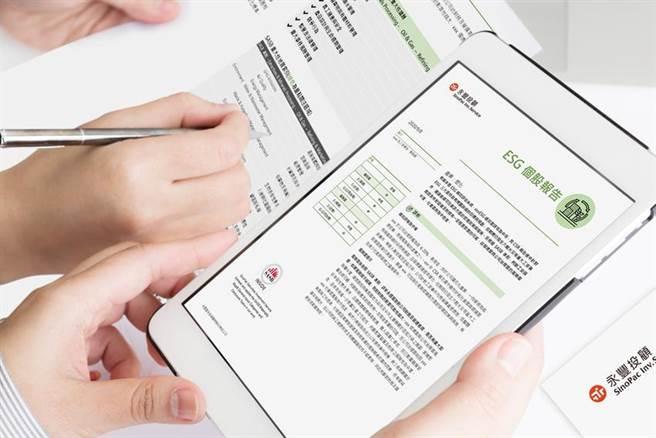 (永豐投顧領先業界完成依據SASB準則個股ESG報告。圖/永豐投顧提供)