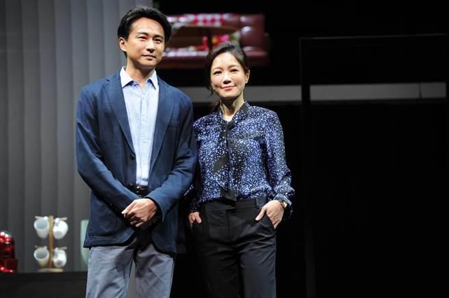 尹馨與狄志杰在《我們與惡的距離》飾演夫妻。(故事工廠提供)