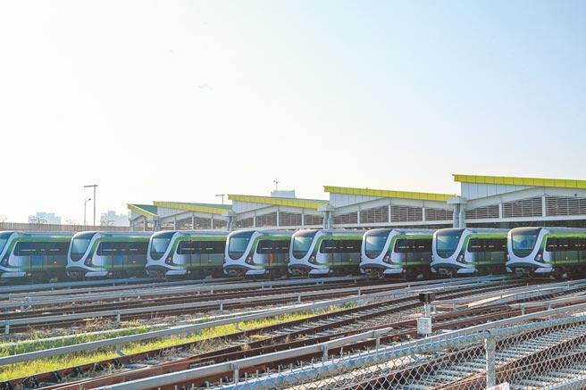 台中市納入前瞻經費的軌道建設,為捷運藍線及綠線延伸線兩案。圖為台中市捷運綠線。(盧金足攝)