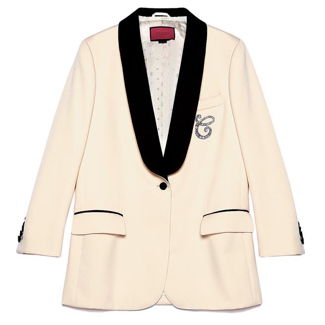 Gucci絲瓜領星座晚禮服單西裝外套,22萬5000元起。 (Gucci提供)