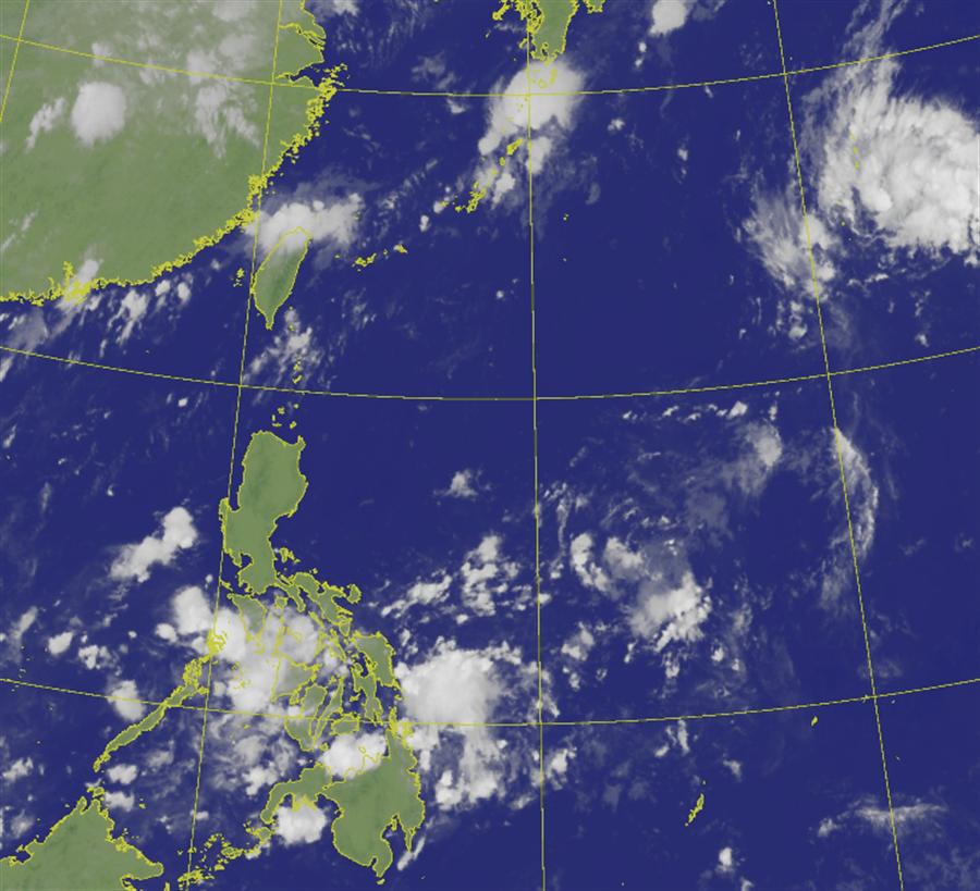 入秋首波鋒面到 颱風季已過?彭啟明揭目前颱風趨勢。(氣象局 衛星雲圖)
