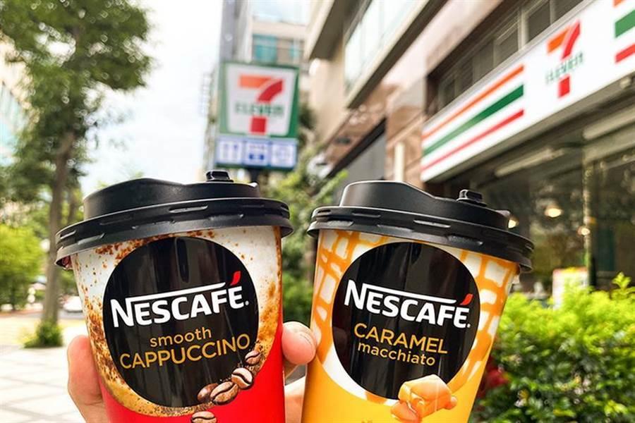搶「黑金」商機,雀巢搭哈韓列車推出韓國進口杯裝咖啡,限量嘗鮮只在7-ELEVEN販售。(圖/雀巢提供)