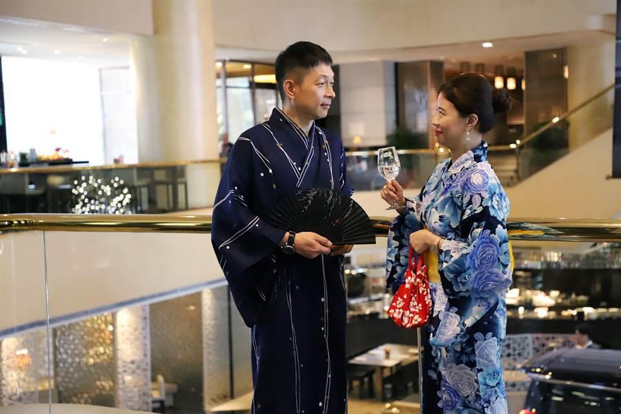 晶華推出東京美食之旅,旅客可以體驗節慶浴衣的穿搭文化 。(晶華提供)