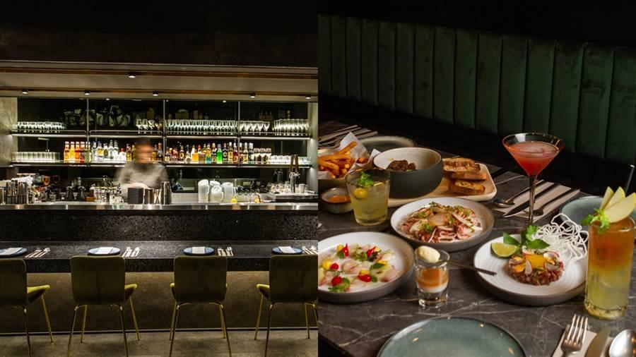 瑪黑餐酒特意降低吧台高度,也拉近顧客與Bartender間的距離。(圖/品牌提供)