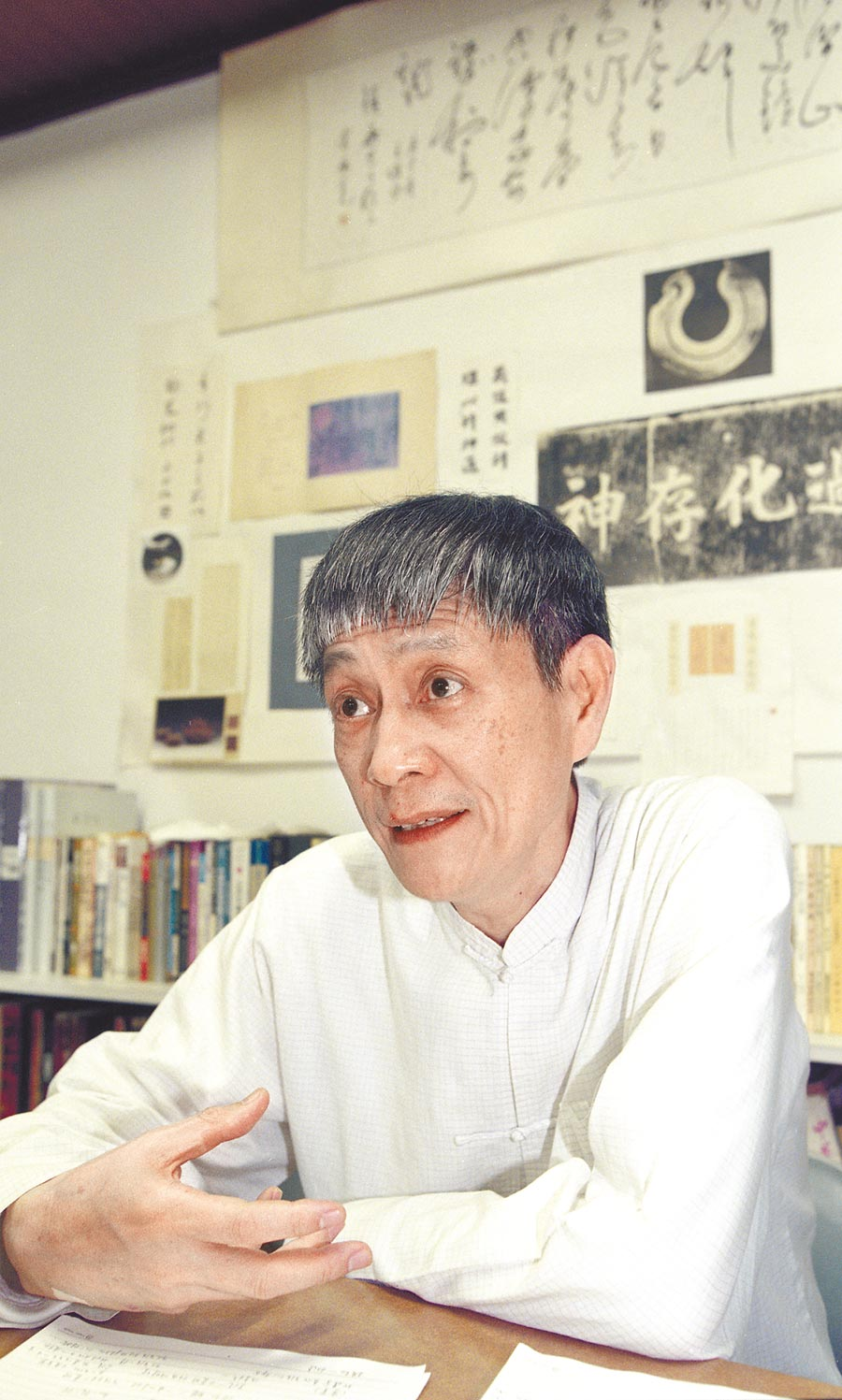 王鎮華於2000年創辦德簡書院,效法孔子以民間教育方式傳授中國文化與生命智慧。(本報資料照片)