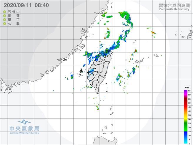 中央氣象局預報指出,今天各地大多為多雲,午後有局部短暫雷陣雨,山區並有局部大雨發生的機率。清晨至上午南部及東南部地區亦有零星短暫陣雨。(翻攝自中央氣象局/林良齊台北傳真)