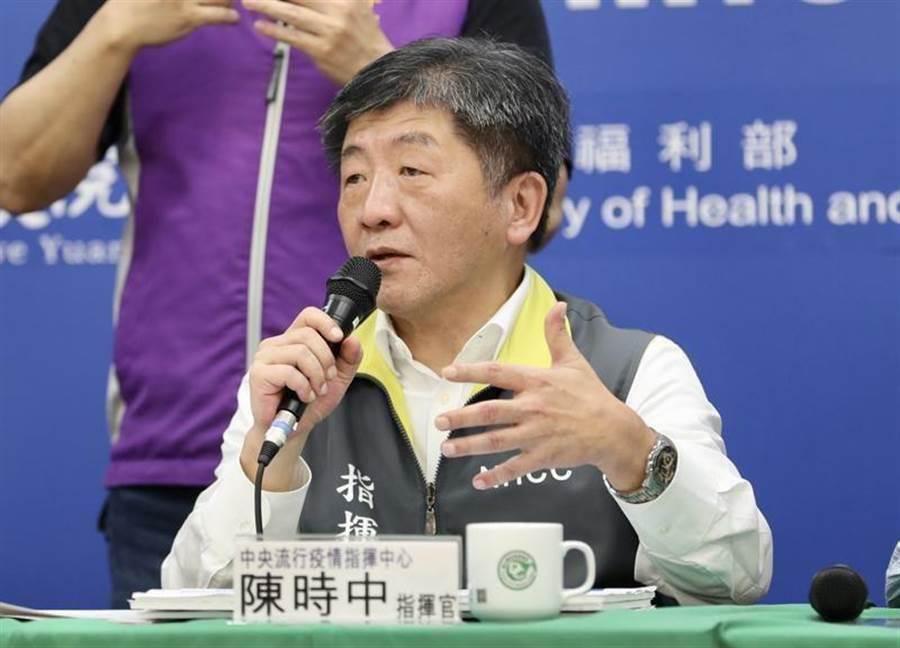 陳時中先前表示,開放美豬可以換來一個台灣在國際上的地位,不到一個月,陳時中卻又在電視節目上稱,不會為了換取國際地位犧牲國人健康。 (圖/本報資料照)
