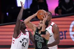 NBA》雙探花逞威 塞爾提克宰掉暴龍晉級