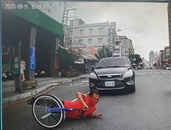 非碰瓷 男子騎腳踏車不勝酒力自摔