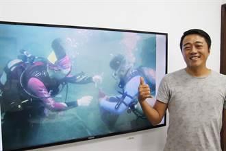 中央大學師生組「藍海環保潛水隊」 自願擔任海底清道夫