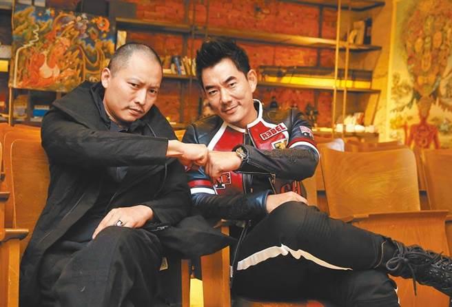 錢人豪(左)跟任賢齊相識多年,兩人感情還不錯。(資料照片)