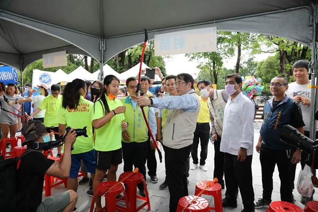 台南市9日下午舉辦「運動嘉年華」。(體育處提供/李宜杰台南傳真)