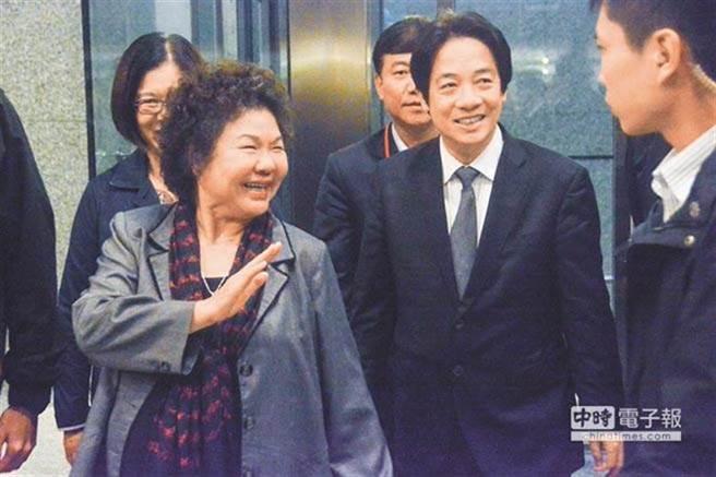 陳菊(左)和賴清德(右)。(資料照片)