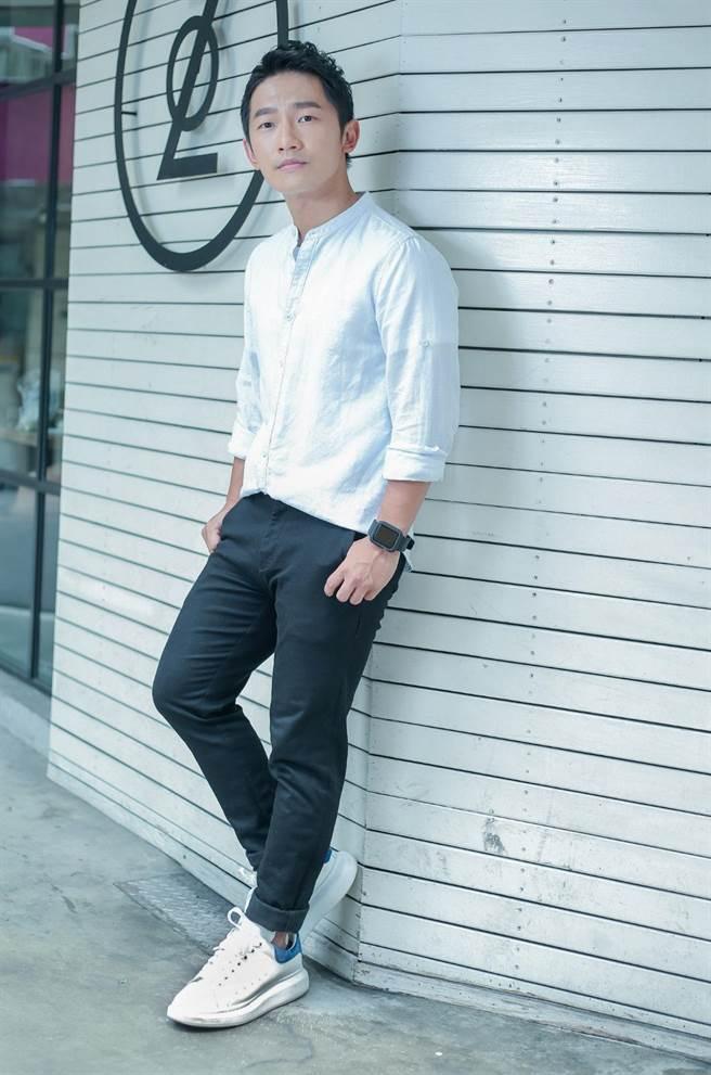 蔡昌憲出道11年,今年首度入圍金鐘獎。(粘耿豪攝)
