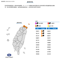 北北基大雨特報 5地區一級淹水警戒