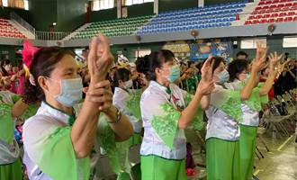 光田樂齡健康舞競賽 銀髮爺奶車拚洗手舞
