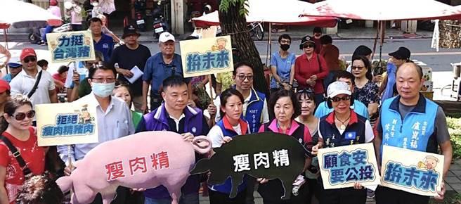 國民黨發起的「全民顧食安公投」連署活動,今日(13)在台南市東區崇晦市場展開。(讀者提供/李宜杰台南傳真)