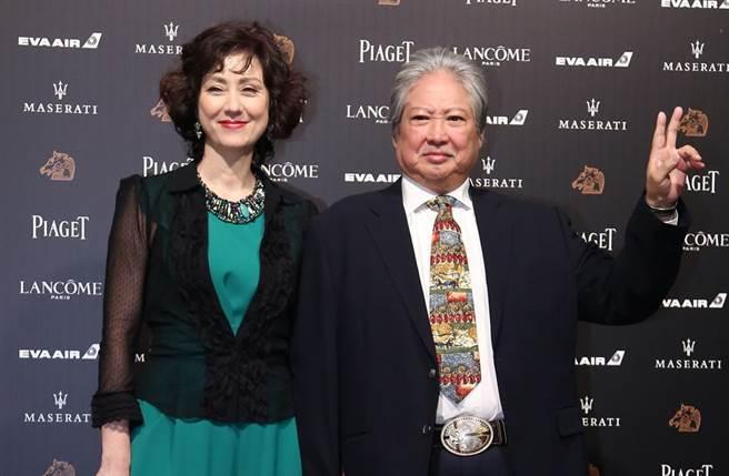 高麗虹和洪金寶前年一起來台參加金馬獎。(圖/中時資料照)