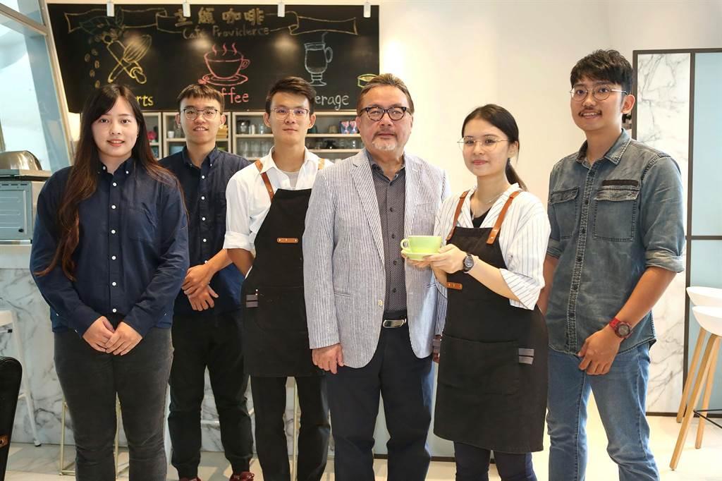 靜宜大學目前正積極籌備的「主顧咖啡二館」,將在近期開幕,呈現專業、嶄新的多功能中心。(陳世宗攝)