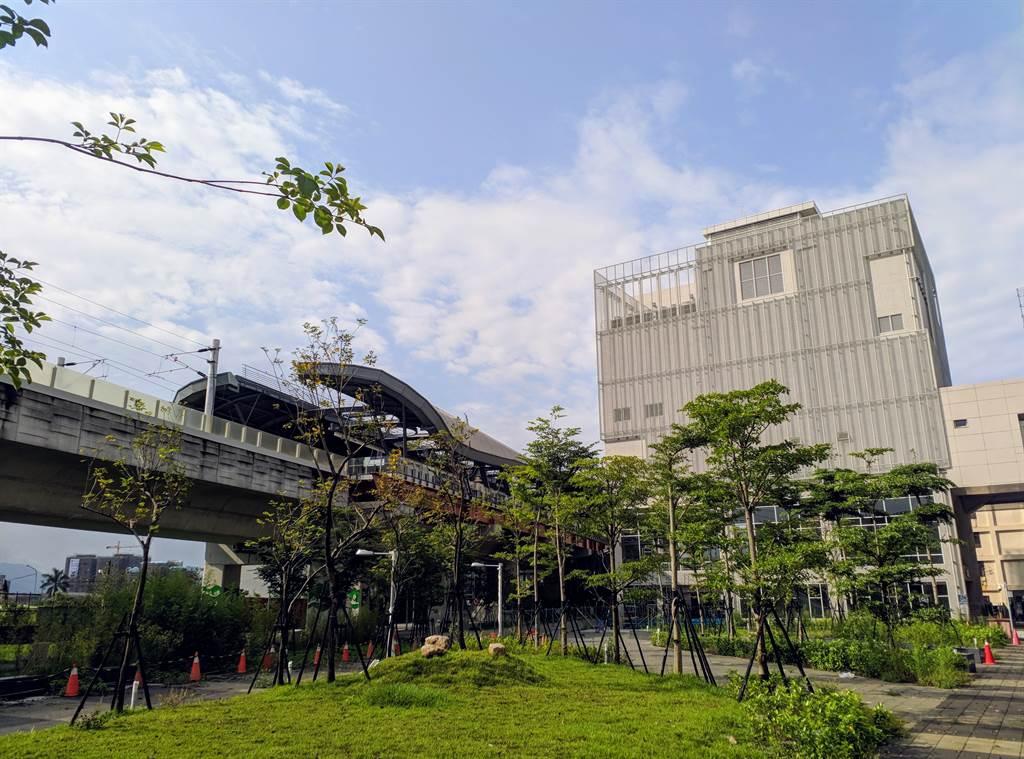台中捷運可望年底通車,與台鐵交會的站點房價表現亮眼,圖為雙鐵會合的松竹站。(台灣房屋提供)