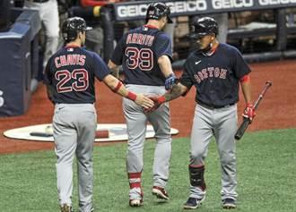 MLB》林子偉4打數槓龜 紅襪扳倒一哥光芒
