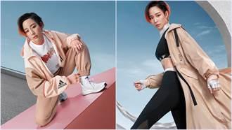 張鈞甯大勢工裝 風衣外套好感系奶茶色時尚與機能兼具