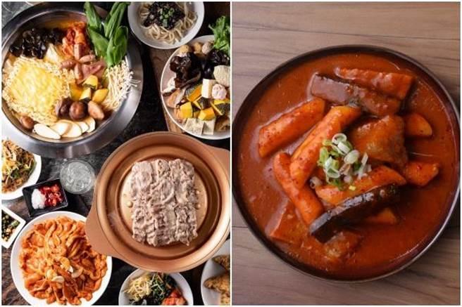 「銅盤」韓式烤肉(左起)、辣湯年糕。(摘自銅盤嚴選韓式烤肉粉絲專頁)