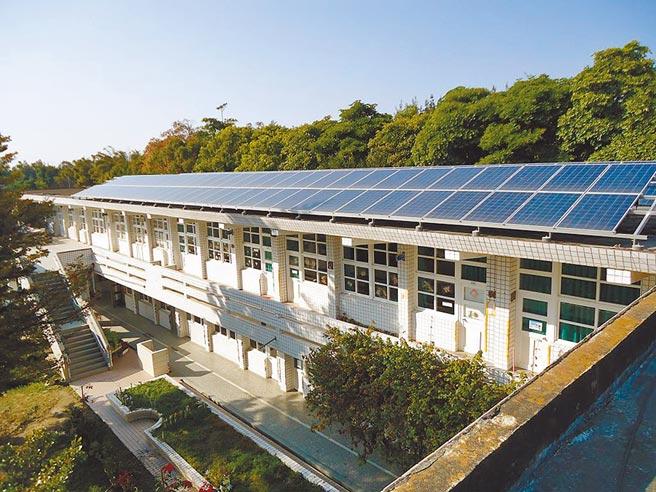 雲林縣府7年前把國中小屋頂發包給綠能業者裝設太陽能板,每年回饋1成收益,縣府打算挪支部分收益,支應小校的冷氣電費補助。(雲林縣府教育處提供/周麗蘭雲林傳真)