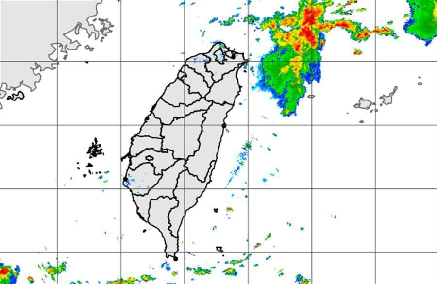水氣消散,今降雨以午後為主。(中央氣象局提供)