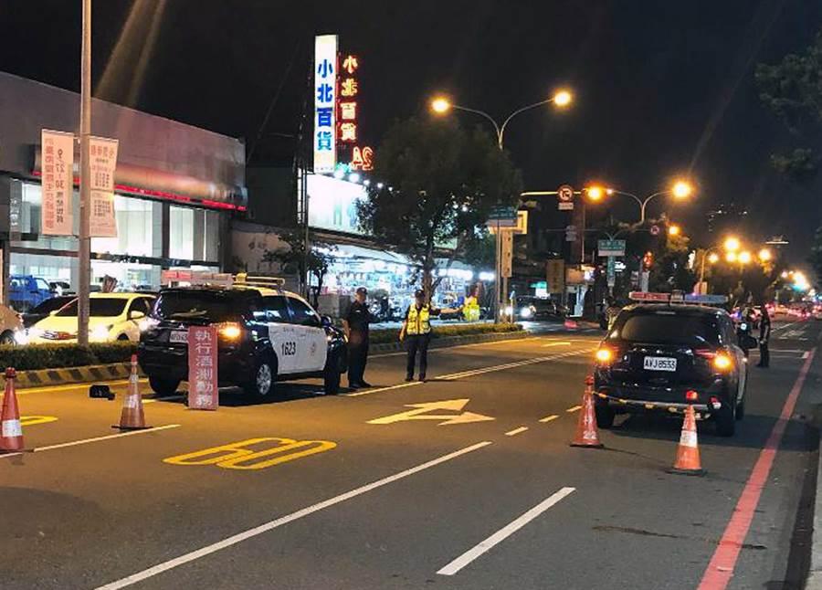 台南市警局今天起將連續3天執行全市擴大防制酒後駕車取締專案勤務,展現「酒後駕車零容忍」的決心。(本報資料照片)