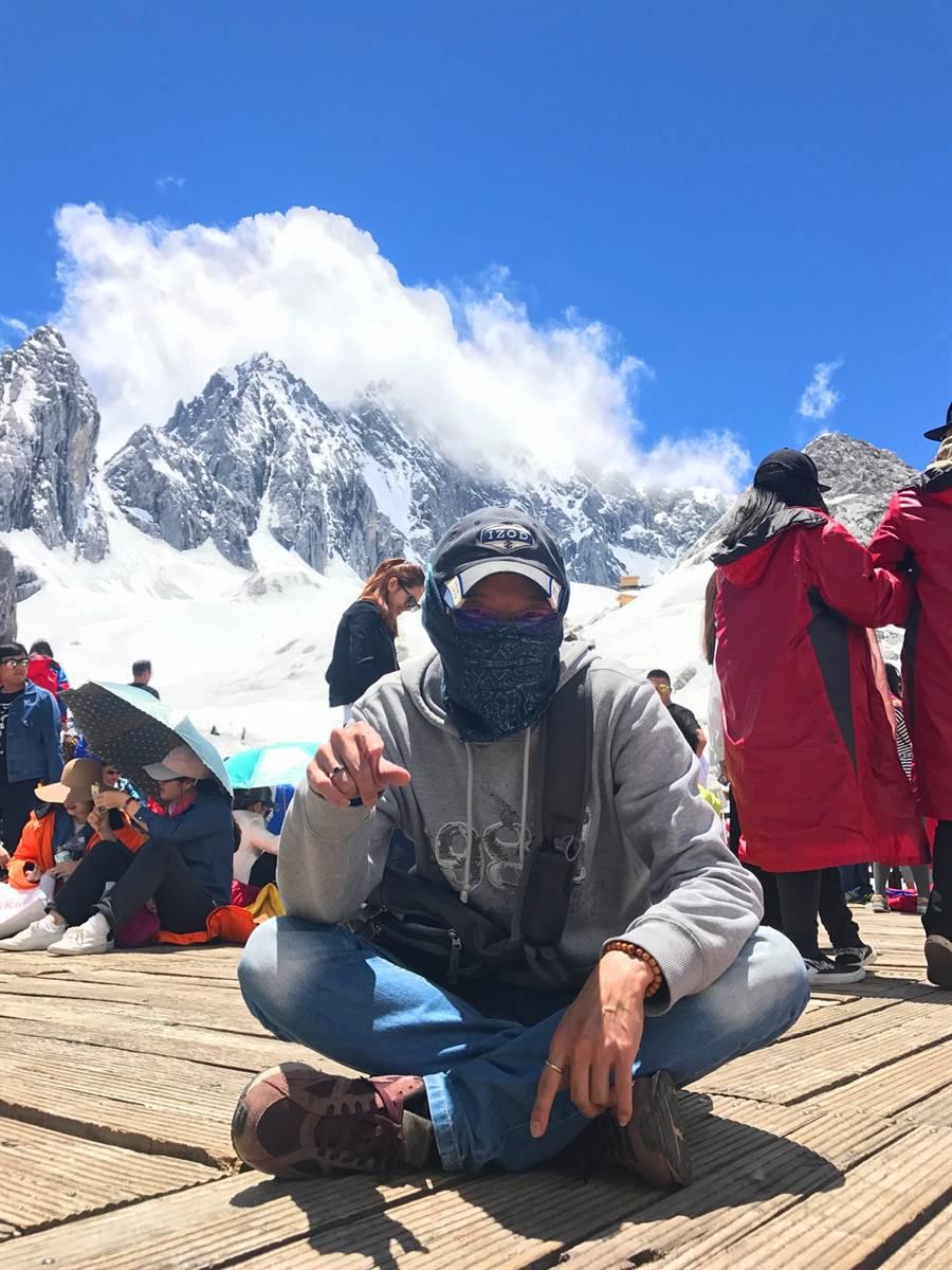 玉龍雪山,是中國最南的雪山,位在雲南省麗江市。(作者提供)
