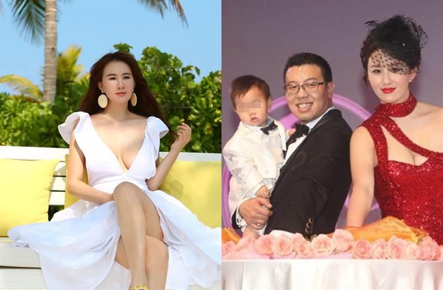 孟瑤宣布和內衣總裁周磊離婚。(圖/翻攝自東網)