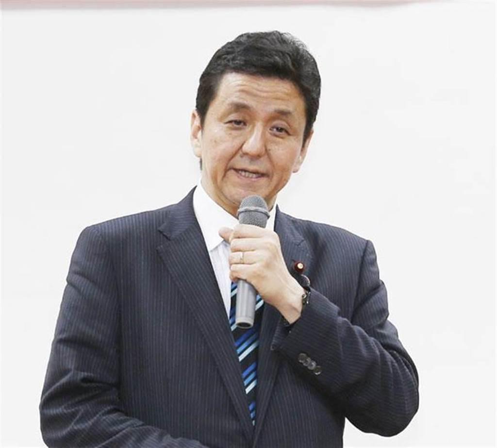 日本首相安倍晉三的胞弟岸信夫。(圖/本報資料照,姚志平攝)