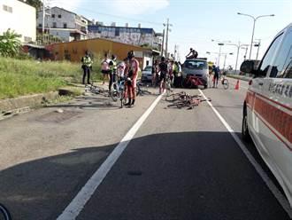 小客車突切入慢車道 新竹自行車校隊連環撞5人傷