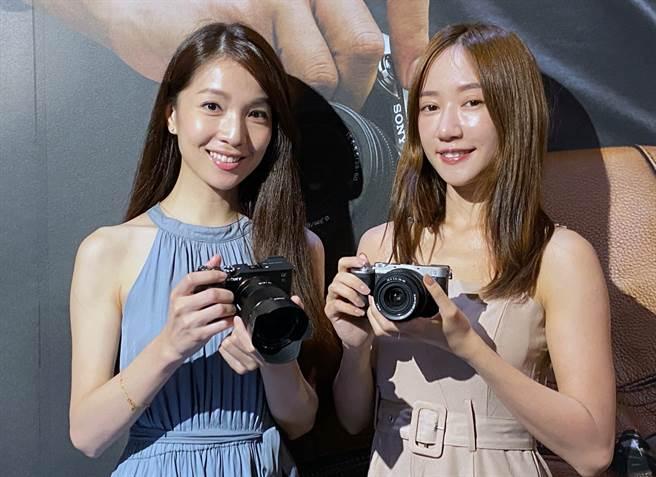 Sony發表輕巧全片幅相機α7c 。(黃慧雯攝)