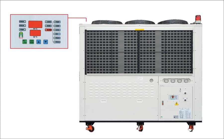 得雲出品的工業用冷卻系統設備。圖/得雲提供