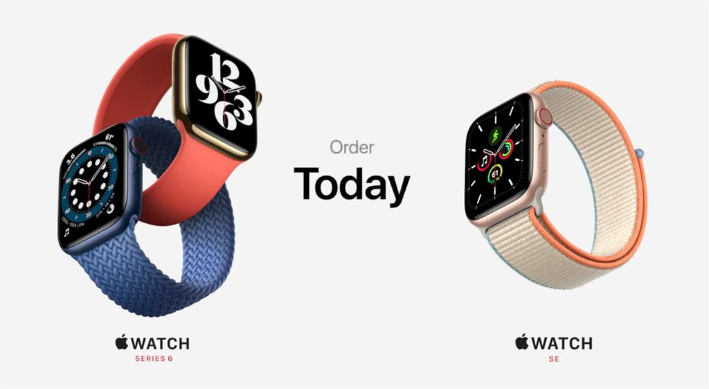 蘋果發表全新的Apple Watch Series 6以及Apple Watch SE。(摘自蘋果官網)