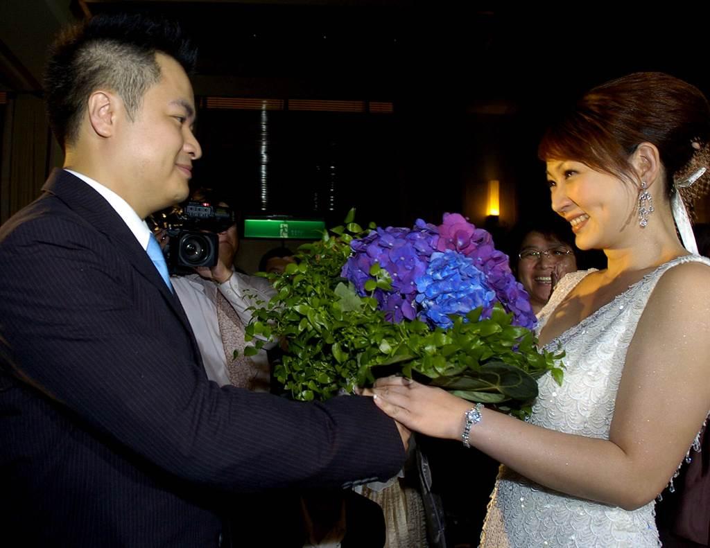 郁方2006年與陳昱羲步入禮堂。(圖/本報系資料照片)
