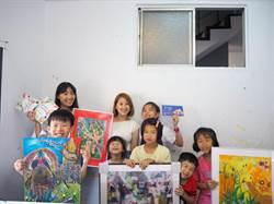 閏風箏「秋的遇意」兒童義賣畫展 孩子揮灑創意獻愛助早療